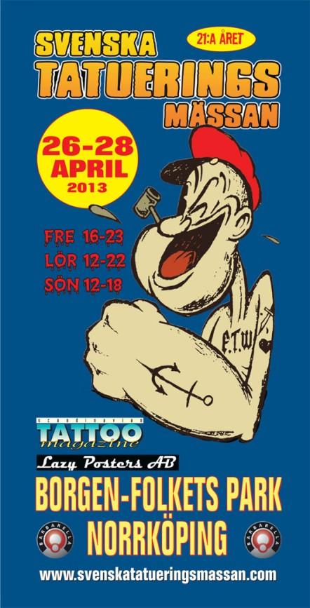 Svenska tatueringsmässan  26-28 april 2013
