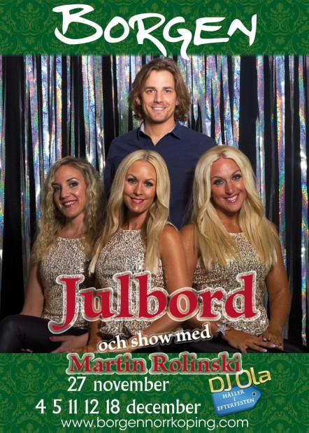 Julbord och show