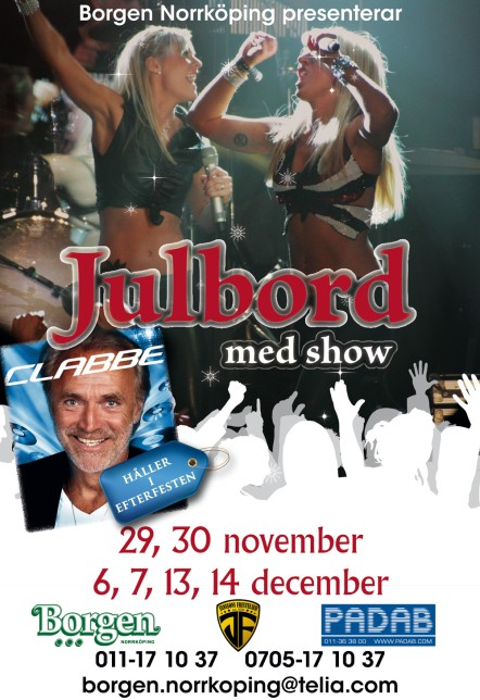 Julbord & Show & Efterfest med Clabbe