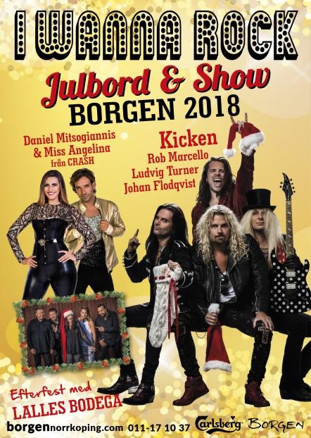 Julshow-Julbord-Fest på Borgen från den 30/11-15/12